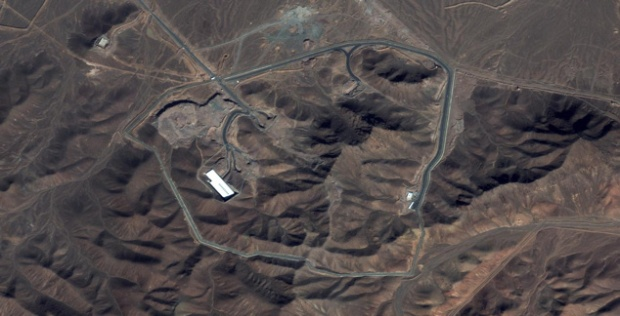 Fordow nuclear site - DigitalGlobe Image on the day  of reported explosion Jan 21, 2013