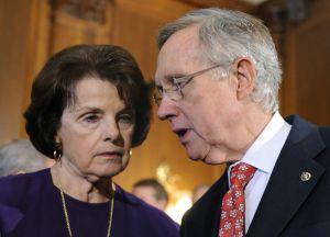 Sen Majority Leader Reid speaks to press about debt ceiling vote