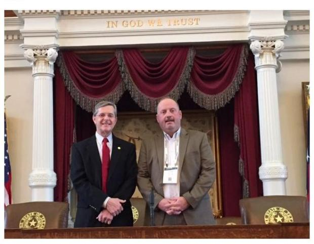 State Representative Phil King and Aledo ISD Superintendent Dr. Derek Citty