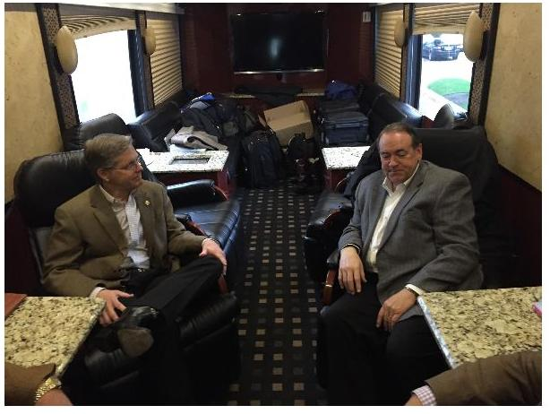 State Representative Phil King with former Governor Mike Huckabee