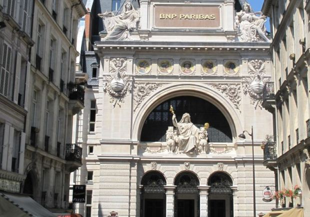 Head offices of the former CNEP bank, now BNP-Paribas,. (photo credit:Wikimedia Commons)
