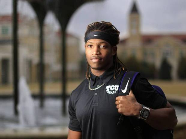 TCU football player Caylin Moore on campus this month. He was named a Rhodes Scholar in November. Ron Jenkins Special to the Star-Telegram Read more here: http://www.star-telegram.com/news/local/community/fort-worth/article122927729.html#storylink=cpy